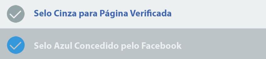 Tipos de Selo de Verificação de Fanpages do Facebook