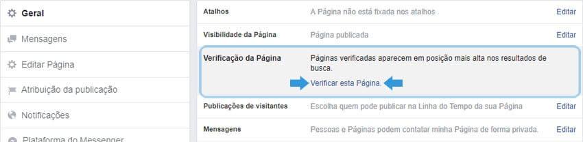 Verificação de Página do Facebook - Como obter o Selo