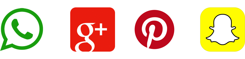 Snapchat - Google Plus - Pinterest -  Logo
