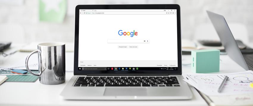 Tela Inicial de pesquisa no Google - SEO
